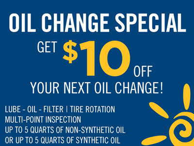 Get $10 Off Your Next Oil Change!